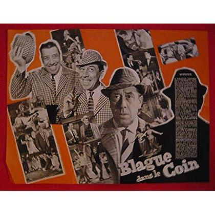 Dossier de presse de Blague dans le coin (1963) – 47x62cm - Film de Maurice Labro avec Fernandel, Eliane d'Almeida – Photos N&B – résumé scénario – Bon état.