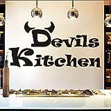 Billig Einfache Design Devils Wandaufkleber Küche Raumdekoration DIY Vinyl Adesivo De Paredes Home Decals Kunst Poster Papiere 83 * 42cm