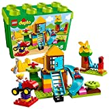 LEGO 10864 DUPLO My First Large Playground Brick Box Construction Set, Easy Toy Storage Preeschool T