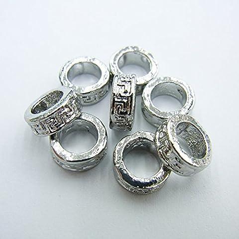 thetastejewelry 4x 8mm Spacer Ring Silber Ton Viel 25PCS Ergebnisse Schmuckherstellung Enden