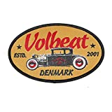 VOLBEAT - Oval Car - Badge - Patch / Aufnäher