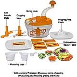 [Sponsored]Multi Purpose Manual Food Processor - Chopper, Blender, Atta Maker, Dough Maker, Blander, Chop N Churn, Hand Juicer, Slicer, Grater