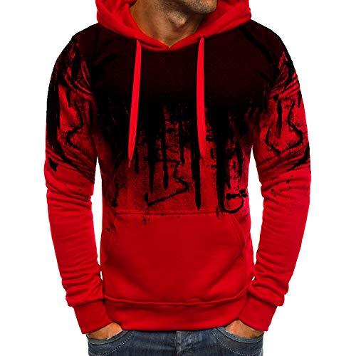 Preisvergleich Produktbild Herren Kapuzenpullover PersöNlichkeit Briefdruck Casual Herrenhemd (M-2Xl) Multi-Color Optional Red XXL