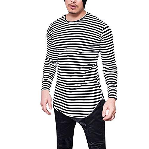 de515dcf146 WWricotta LuckyGirls Camisetas para Hombre Rayas Camisa de Manga Larga  Casual.