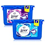 Lenor 3in1 Pods Blütenbouquet Color & Weiße Wasserliliel Waschmittel - je 14 WL
