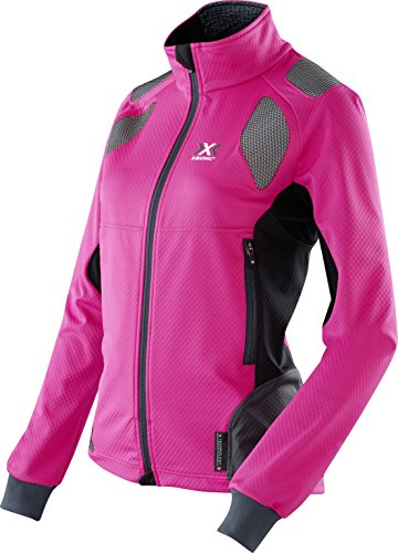 X-Bionic Damen SKI Touring Light Lady OW Jacket Jacke, Pink/Black/Anthracite, L