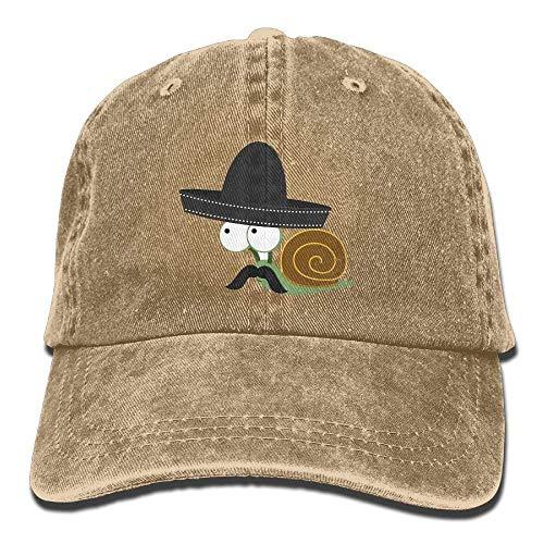 DIYoDGG Caracolcito Bandito Snail Vintage Cowboy Baseball Caps Dad Hats