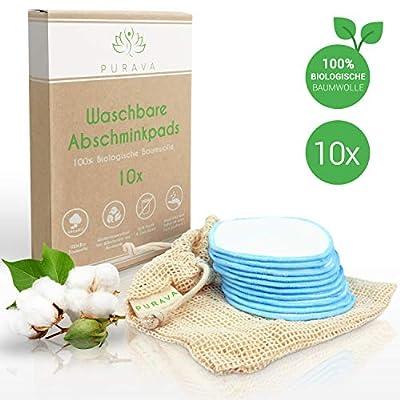 PURAVA® [10x] Abschminkpads waschbar