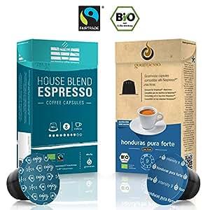 Capsule di caffè compatibili Nespresso Gourmesso biologico & fairtrade