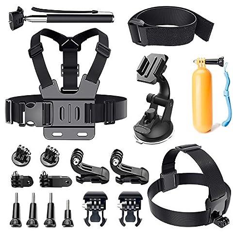 Accessories kit for Gopro Hero, LUSCREAL Outdoor Sports Action Video Camera Accessory Bundle Set for Gopro Hero 5 Session 4 3+ 3 2 1 SJ4000 SJ5000 SJ6000 Xiaomi Yi DBPOWER AKASO APEMAN WiMiUS Sony Sports