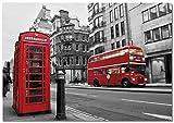 Panorama Poster Rues de Londres 30 x 21 cm - Imprimée sur Poster de Grande qualité - Poster Ville - Poster Moderne pour la Maison - Décoration Murale Vintage - Tableau de Photos