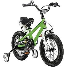 Royal Baby Niños Freestyle Steel bicicleta infantil, color verde, tamaño 18 pulgadas