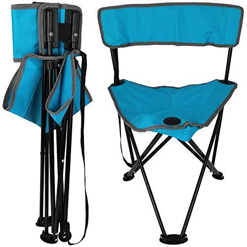 Falthocker Camping mit Farbauswahl Klapphocker faltbar Angelhocker Campinghocker Dreibeinhocker (Blau
