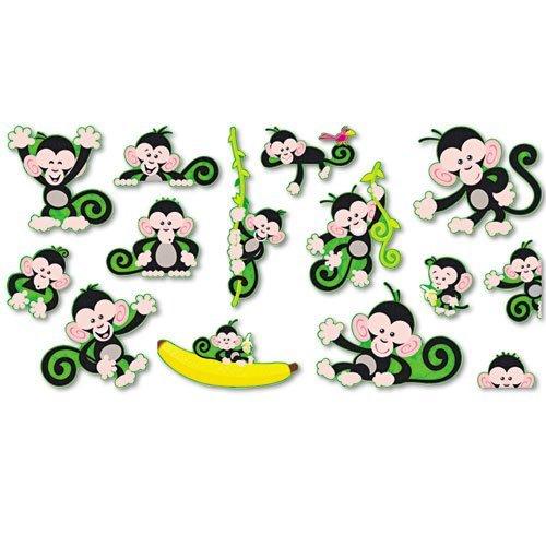 201 Monkey Mischief Bulletin Board Set by Trend ()