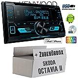 Skoda Octavia 2 1Z - Kenwood DPX-3000U - 2DIN USB CD MP3 Autoradio - Einbauset