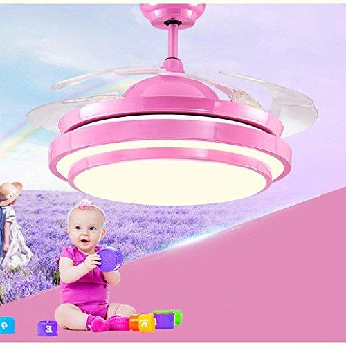 DSJ Kronleuchter 36 Zoll 42 Zoll Kinder 'S Deckenventilator Lichter, Schlafzimmer Fan Kronleuchter, LED Kronleuchter, Restaurant Wohnzimmer, Home Stealth Fan Lichter,42 Zoll (36 Led Tv Zoll)