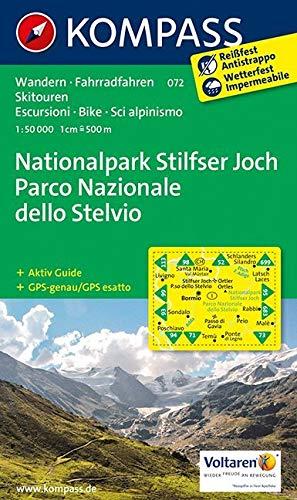 Carta escursionistica n. 072. Parco Nazionale dello Stelvio-Nationalpark Stilfser Joch 1:50.000: Wandelkaart 1:50 000