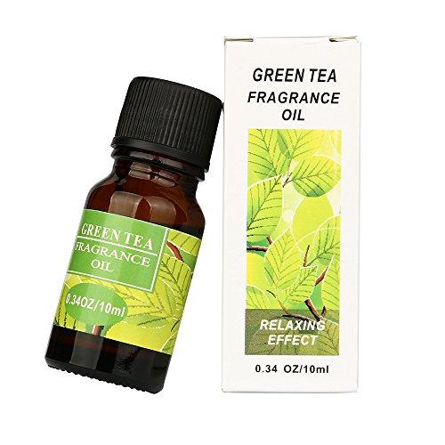 Ätherische Öle, 10ml Pure & Natural Ätherische Öle Aromatherapie Duft Hautpflege(Lilie, Grüner Tee, Jasmin, Kirschblüte, Vanille) - Ätherische Mischung Grüner Tee
