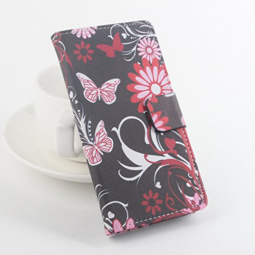 Baiwei Easbuy Bunt Pu Leder Kunstleder Flip Cover Tasche Handyhülle Case für Cubot P11 Smartphone (Side Open mit Halterung Design, Mode 10)