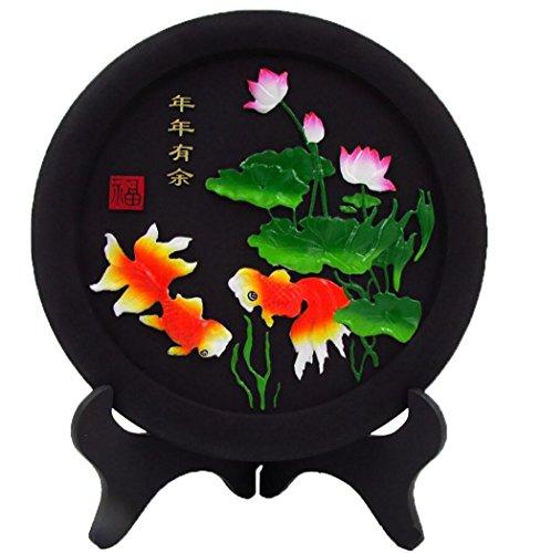 carbon-vegetal-artesania-golden-gallo-gallina-decoraciones-de-la-placa-de-premio-placa-conmemorativa