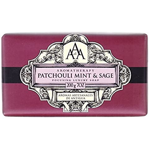 Aromas Artisanales De Antigua Aromatherapy Patchouli Mint and Sage Soap