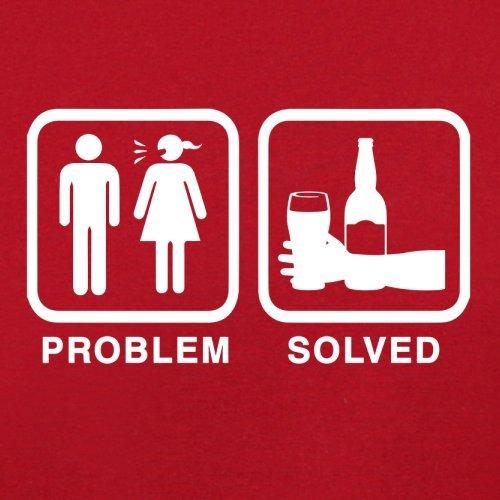 Problem gelöst - Bier - Herren T-Shirt - 13 Farben Rot