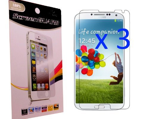 3X Pcs Pack CyberTech HD SGS Premium Material Crystal Clear Screen Protectors Skins Films for Samsung Galaxy Note 3 III