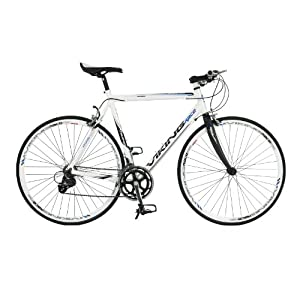 Viking Palermo, 16 Speed, 700c Wheel Bike, White/Carbon