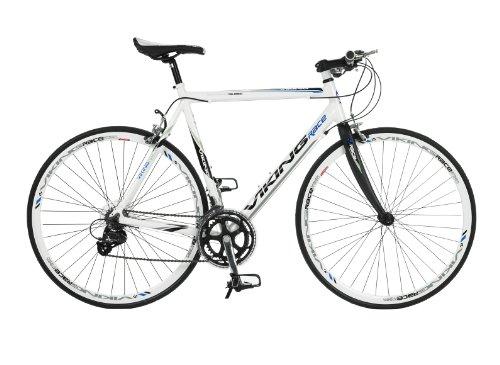 Viking Palermo, 16 Speed, 700c Wheel Bike, White/Carbon