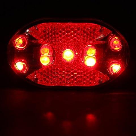 7 modos bicicletas 9 LED brillante estupendo Advertencia cola luz trasera luz.