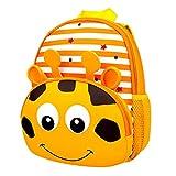 Kinderschultaschen,Kinderrucksack Kleinkind Jungen Mädchen Schultaschen Kindergarten Cartoon Rucksack Schulter Bookbags Brotdose (2-6 Jahre alt)(Giraffe)