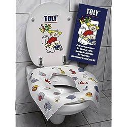 Cubre asientos biodegradable para niños con dibujitos de animales (60 unidades)