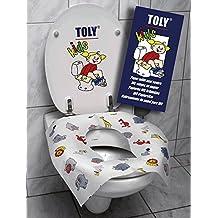 TOLY KIDS Cubreasiento para WC Biodegradable (6 Paquetes de 10 unid/Paquete) (