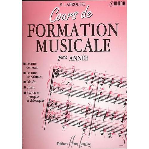 Cours de formation musicale Volume 2