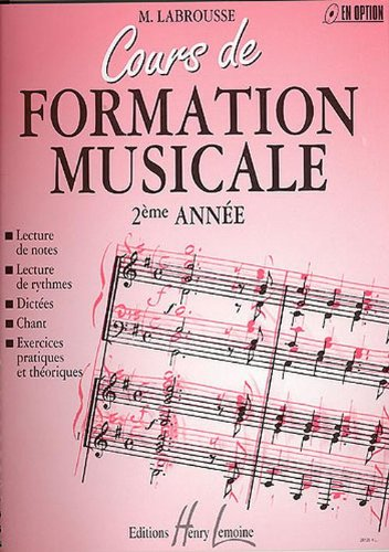 Cours de formation musicale vol.2 --- formation musicale
