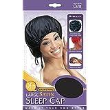 Large satin sleep cap with drawstring by Qfitt