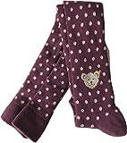 Steiff Strumpfhose AMY Farbe purple mit rosa Pünktchen (74-80)