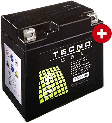 Preisvergleich Produktbild GEL Batterie YTX5L-BS für Honda NSR 125 R Baujahr 1997-2003 von TECNO
