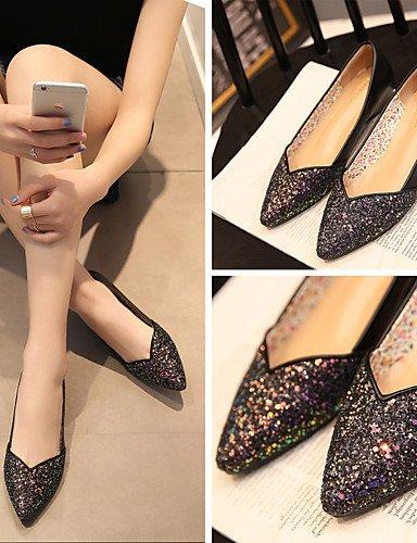 XAH@ Chaussures Femme-Mariage / Bureau & Travail / Habillé / Décontracté-Noir / Rose / Blanc-Talon Plat-Compensées / Bout Pointu-Plates- pink-us6 / eu36 / uk4 / cn36