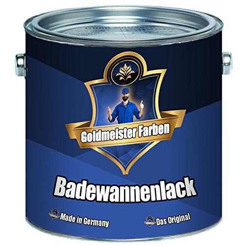 Goldmeister Farben 2 Komponenten Badewannenlack FARBAUSWAHL im SET Beschichtung für Keramik Emaille Acryl Badewanne Porzellan Stahl Fliesen Kunststoff GFK (1 kg, Weiß)