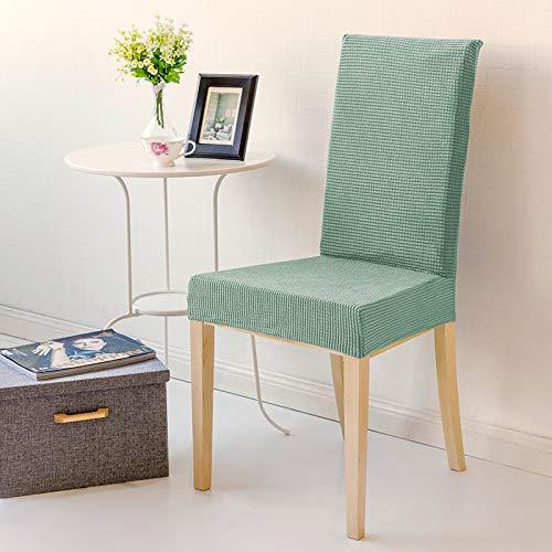 T-cyyt 2 pezzi stretch antiscivolo semplice ristorante hotel casa anti-macchia copertura della sedia da pranzo, pino e copertura della sedia verde