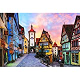 Image for board game Puzzle House Rothenburg, Germany, Unique Cut Wooden Jigsaw Puzzle, Boxed 300/500/1000/1500 Pieces Puzzles Painting Art Game For Adults & Kids 504 (Size : 300pc)