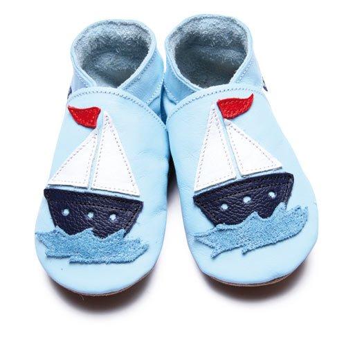 Inch Blue - 1580 M - Chaussures Bébé Souples - Sailboat - Bleu ciel - T 19-20 cm - 6-12mois