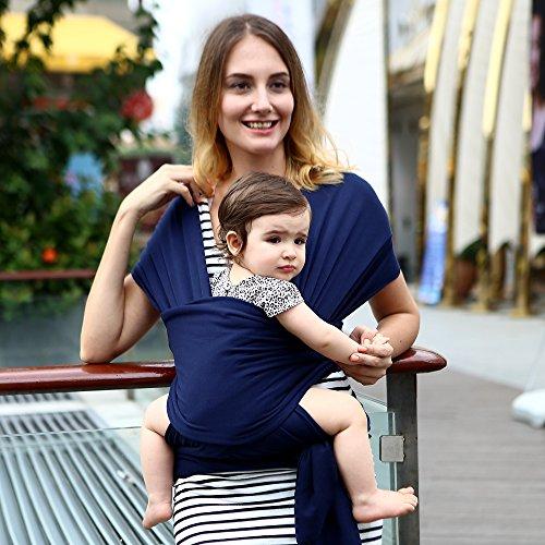 Tür Baby–Schal tragbar–Tasche Känguru–Träger für Kinder–Baumwolle dunkelblau