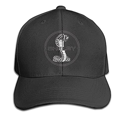 Ford Cobra Logo Vintage Baseball Flat Bill Hat Adjustable Cap