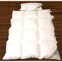 Betten Hofmann Luxus Baby Kinder Daunenbett Daunendecke Ganzjahresdecke Set 100x135 cm mit Kopfkissen 40x60 cm 100% Neue Daunen