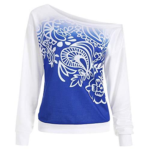 Manica Lunga Camicetta Camicette T Shirt Felpa Donna con CappuccioFelpe Donna Tumblr CorteBiancheria Intima Termica da Sci per UomoLargeBlu