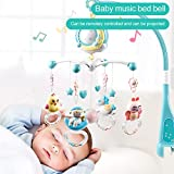 Sunnyushine Juguetes Musicales Móviles para Bebés, Juguetes De Campana con Control Remoto, Cuna Móvil para Música para Bebés, Soporte Móvil Musical para Cochecito Y Cunas, Recién Nacido