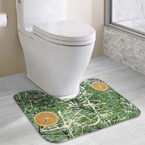 Hoklcvd Splatter Paint Non Slip Bathroom Toilet Mat Anti-Skid Bathroom Toilet Rug -