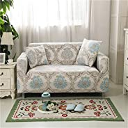 Printed Sofa Slipcover for 1 2 3 4 Seater Couch - Sofa Protector with Elastic Bottom and Non-slip Foam
